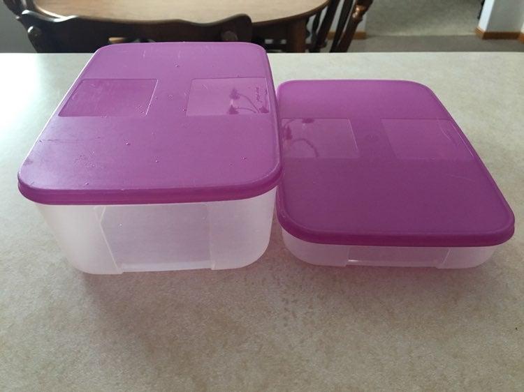 Tupperware freezer containers