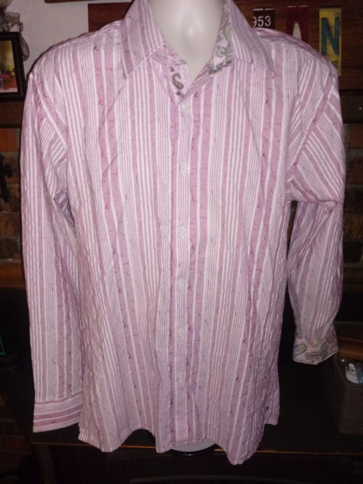 Inserch Button Front Shirt Sz L Pink