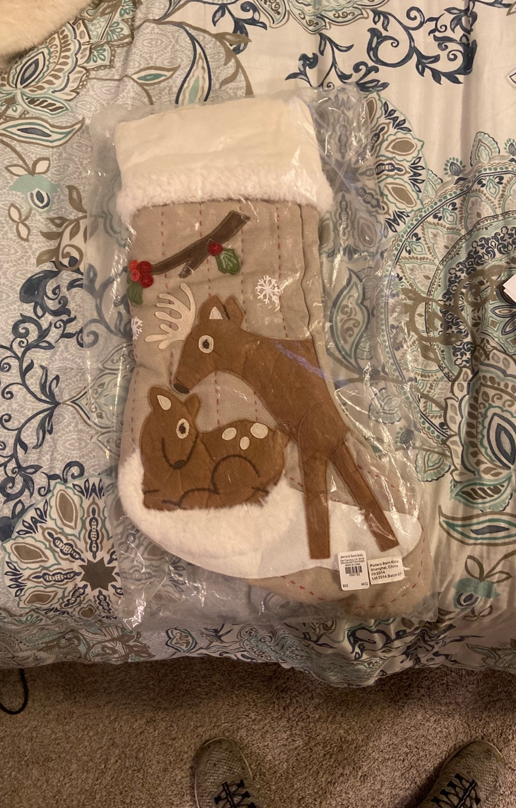 Pottery barn kids woodland stocking