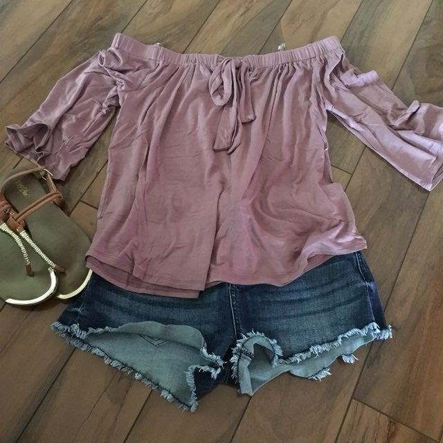Dusty Mauve Top Celebrity Pink Short 3