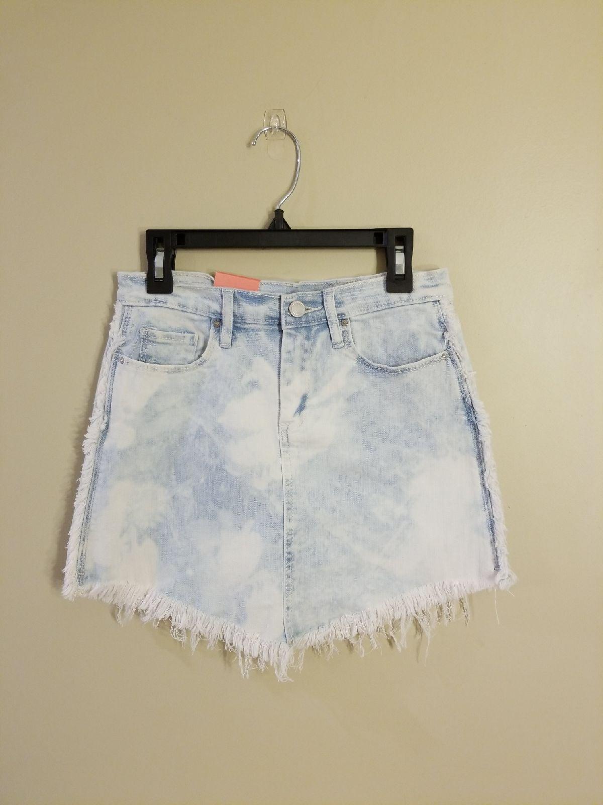 Blank NYC fringe denim skirt