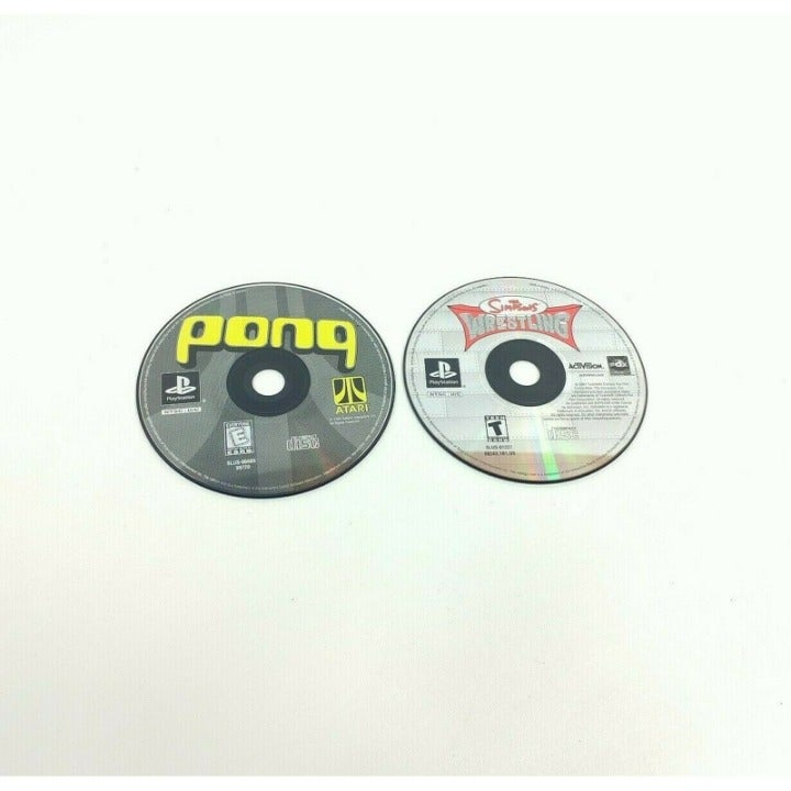 Lot of 2 Pong and Simpsons Video Games