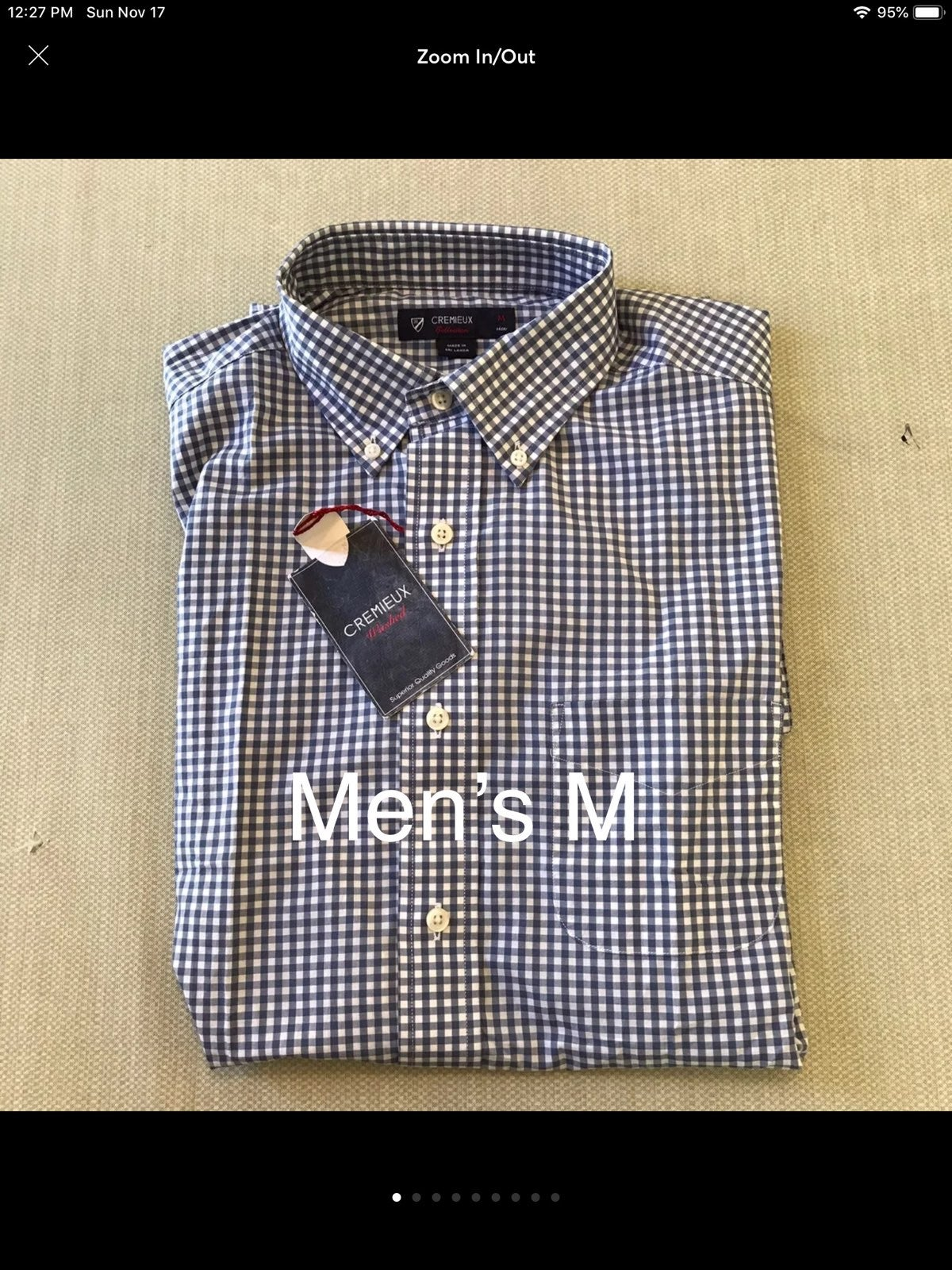 Men's M Cremieux Blue Checkered Oxford