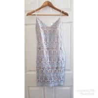 e6ac3d2e6 Sz S Leith Powder Blue Lace Dress