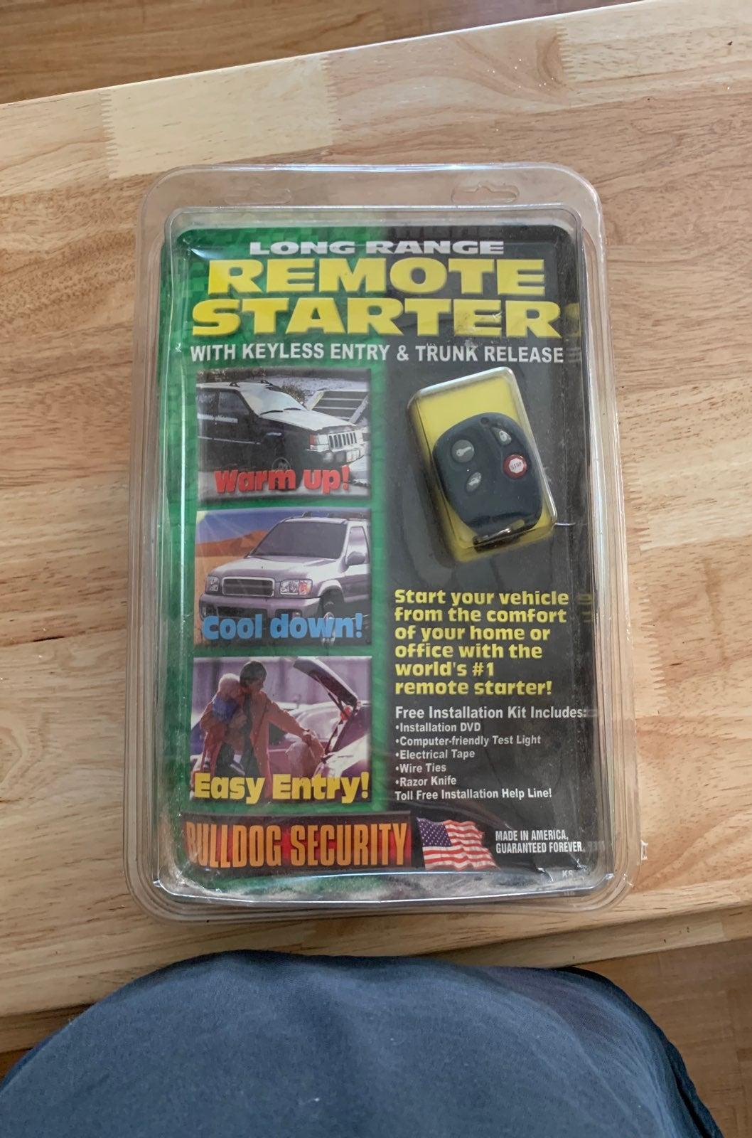 bulldog security long range remote start