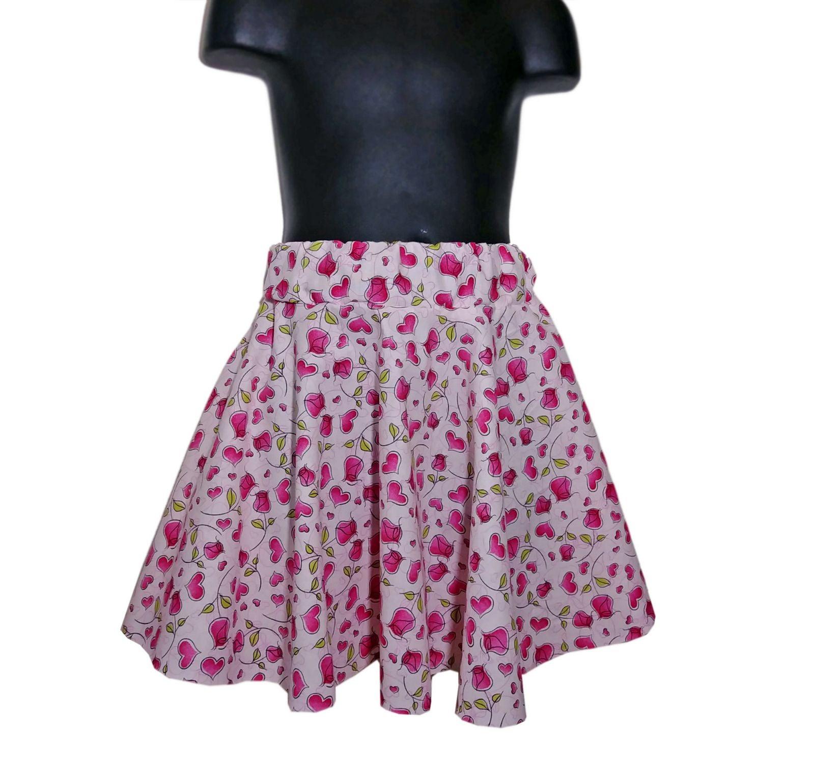 Little Girls Valentine Skirt, pink skirt