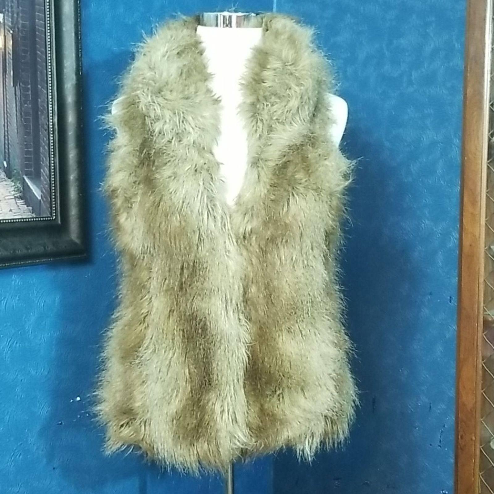 Jou Jou Faux Fur Vest Very Full Long Med
