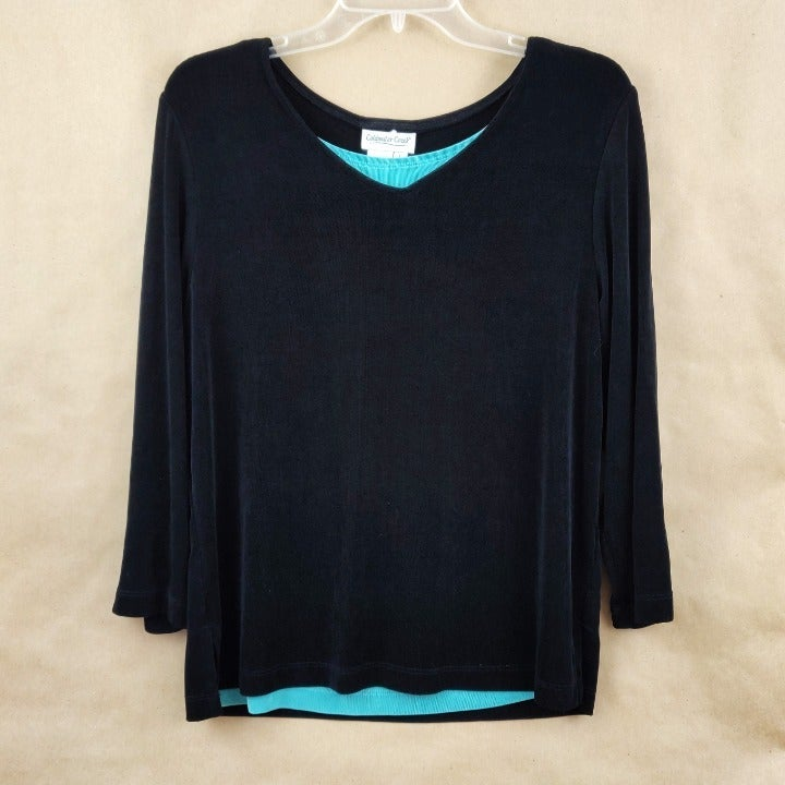 Black Long Sleeve Top Size L
