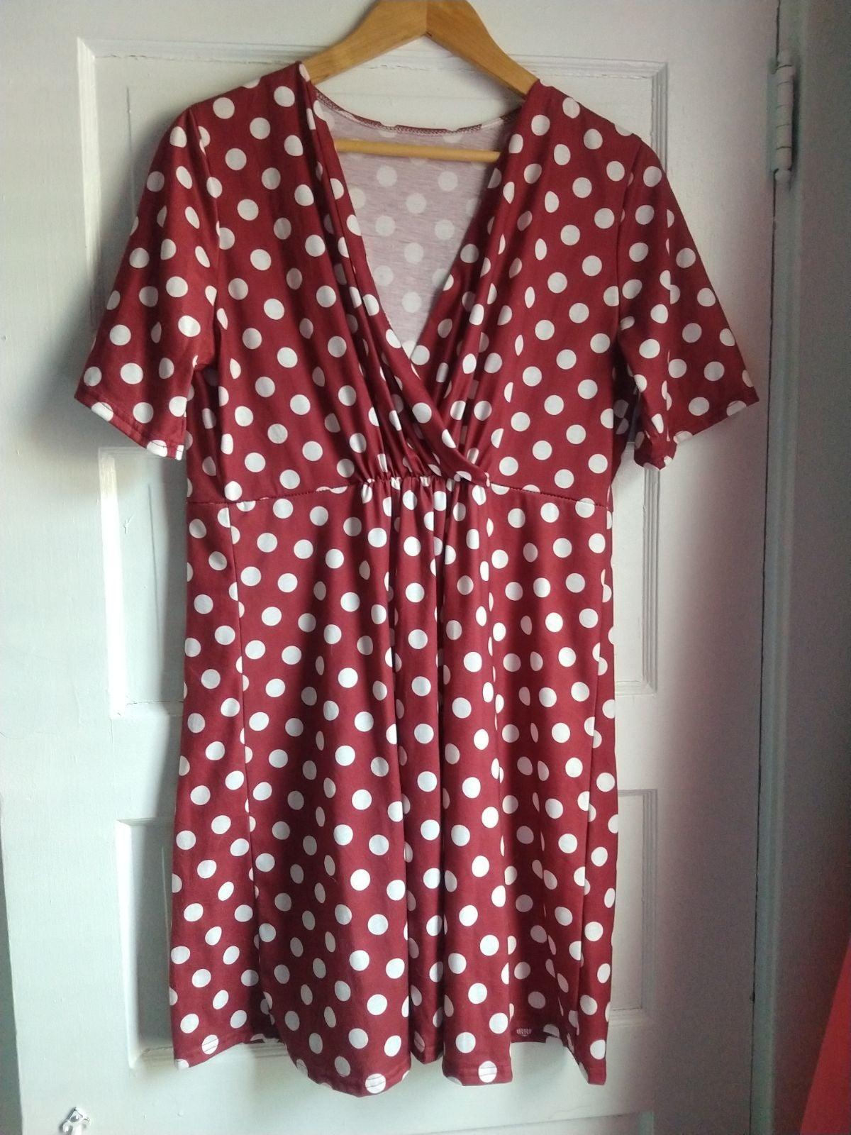 Maternity/Nursing Polka Dot Dress