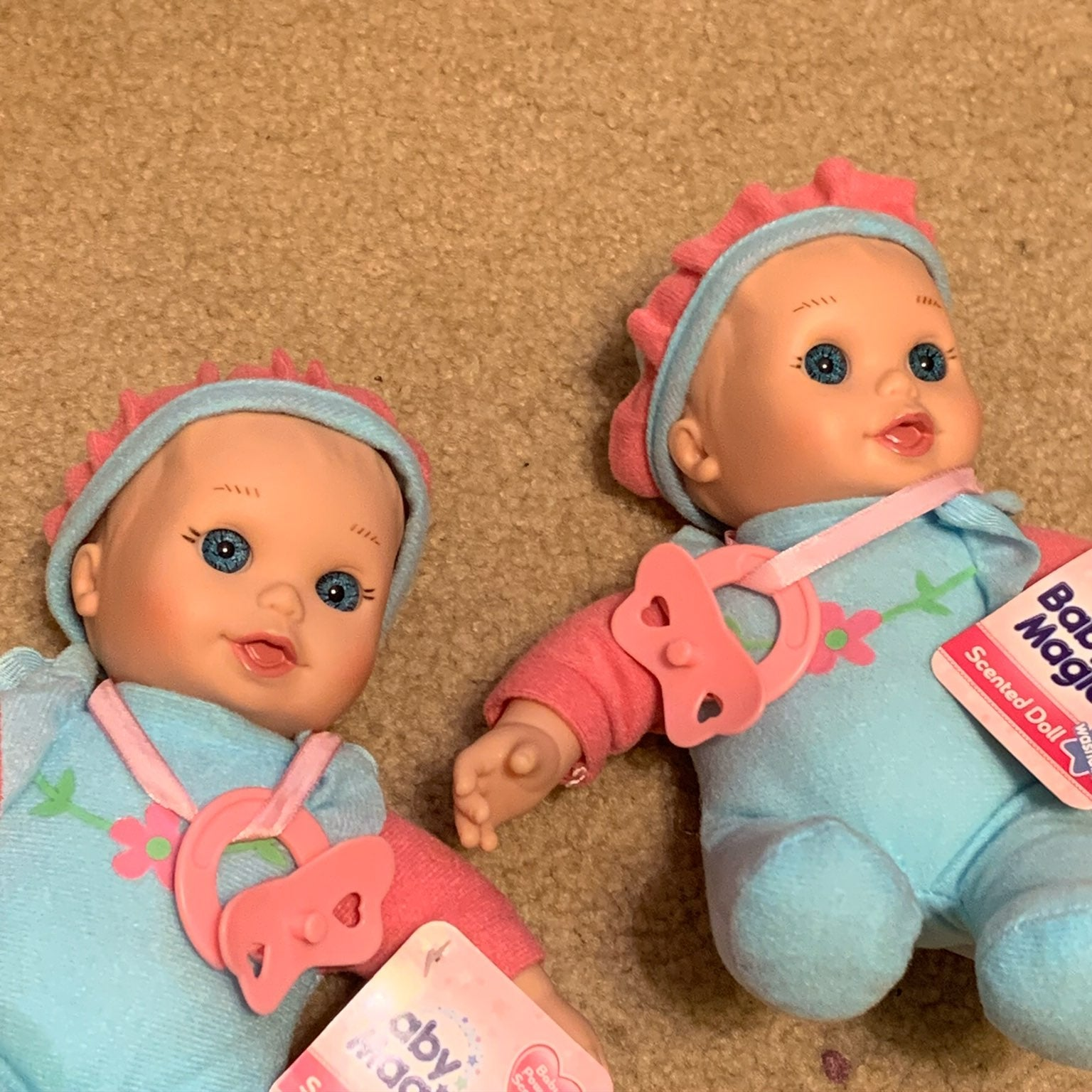 2 NEW Baby Magic scented babydolls w/pac
