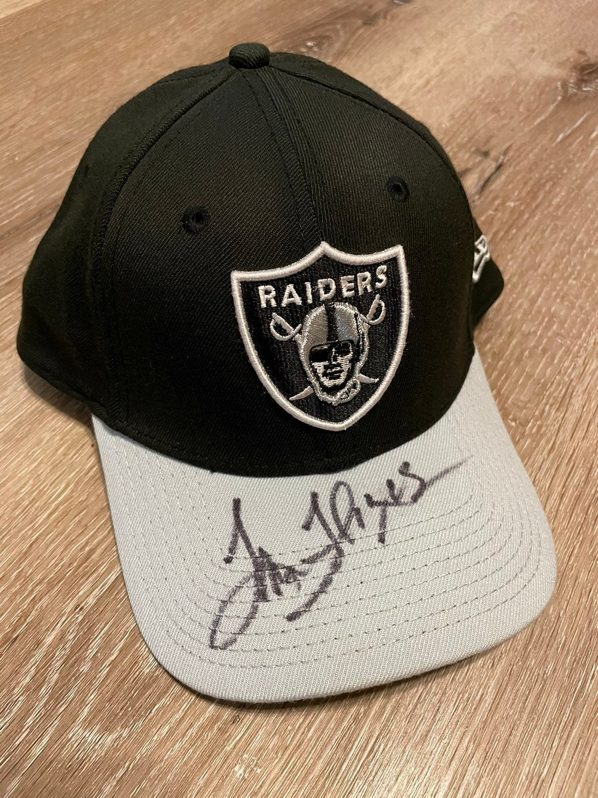 New Era Raiders Hat Signed also 8x10's