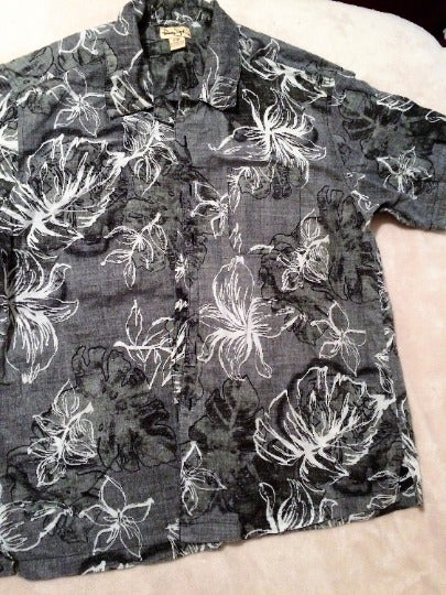 Men's Panama Jack Shirt SS XL Gray/White