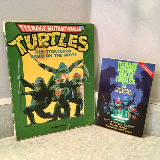 Vintage 90s TMNT Movie Books