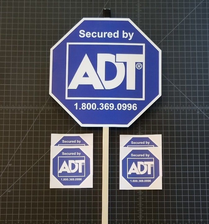 1 ADT Yard Sign with 4 decals/stickers