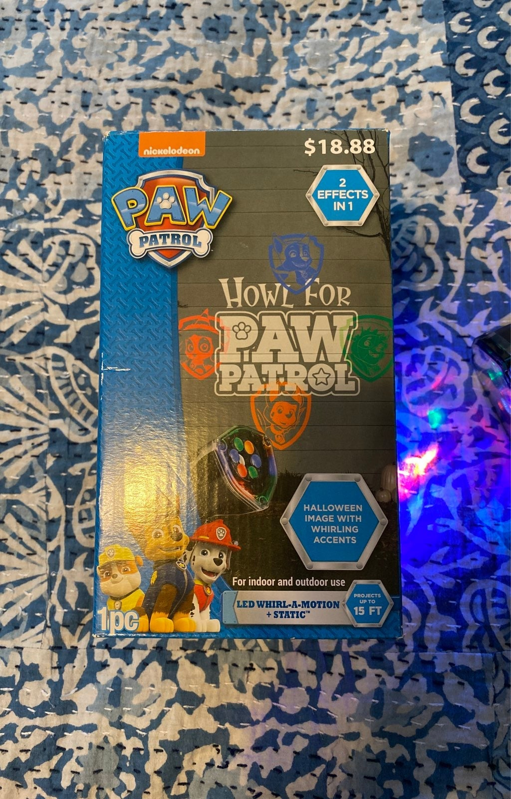 Paw Patrol Halloween Led Whirl-a-Motion