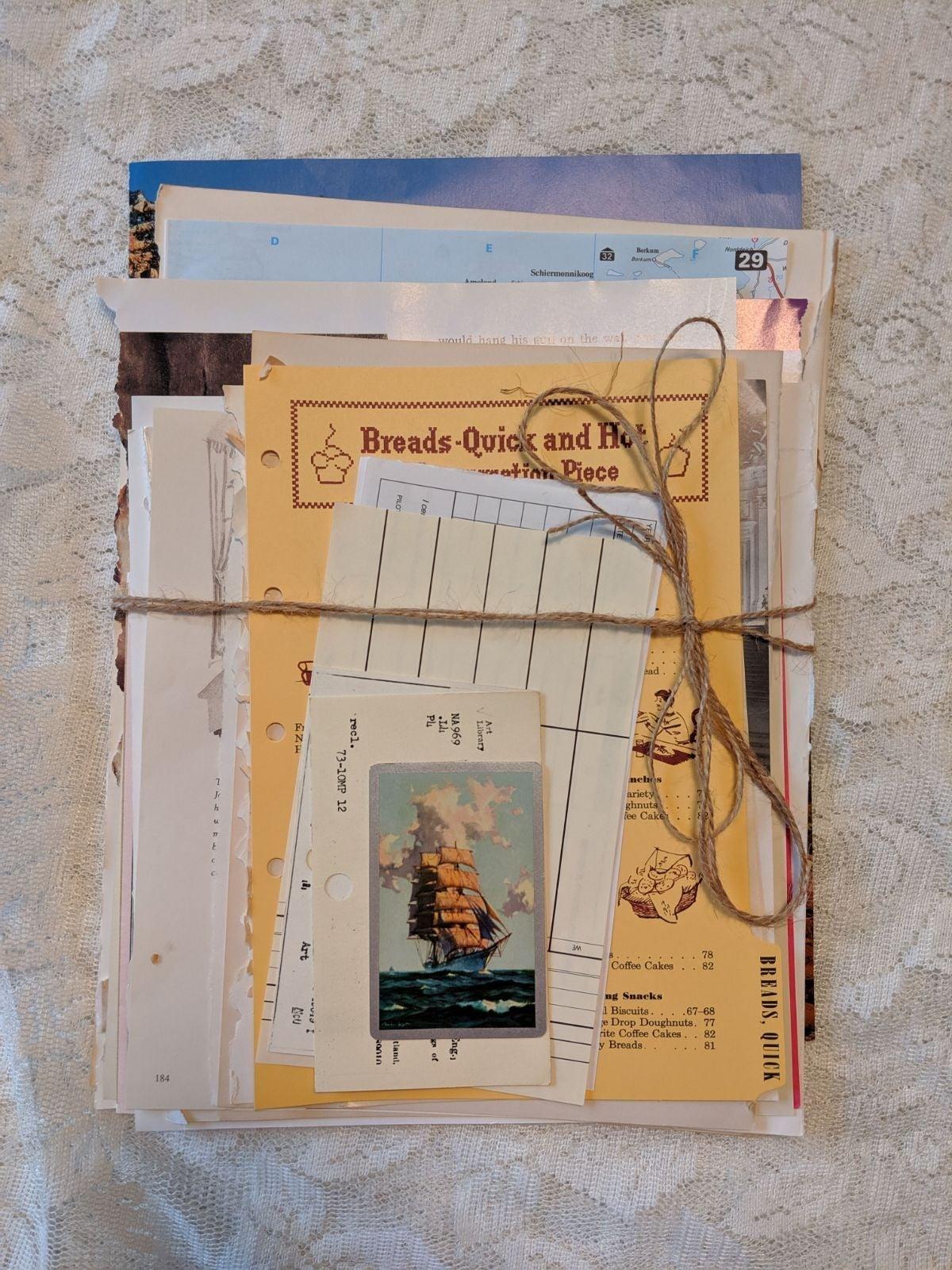 Vintage papers and ephemera pack - 55 pa