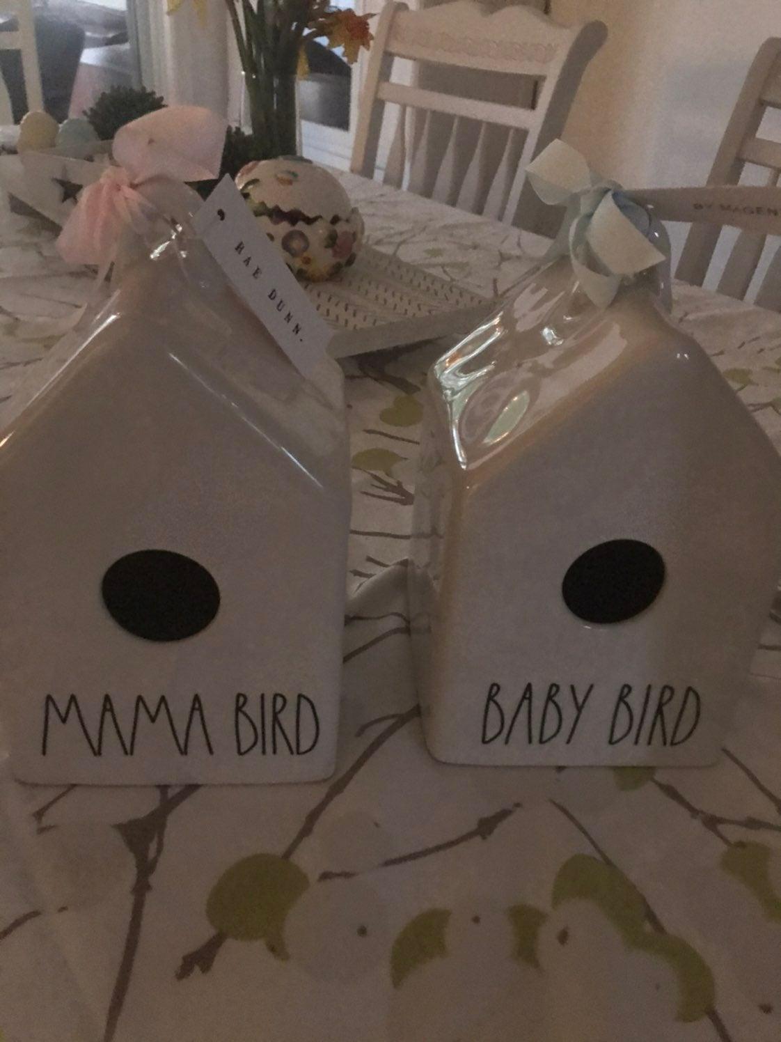 "RAE DUNN ""MAMA BIRD"" AND ""BABY BIRD"" BIR"