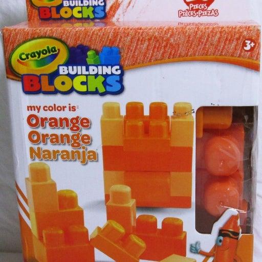 CRAYOLA BUILDING BLOCKS 20 PIECES ORANGE