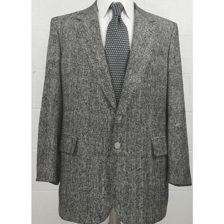 Savile Row Black & White Mens Jacket Bla