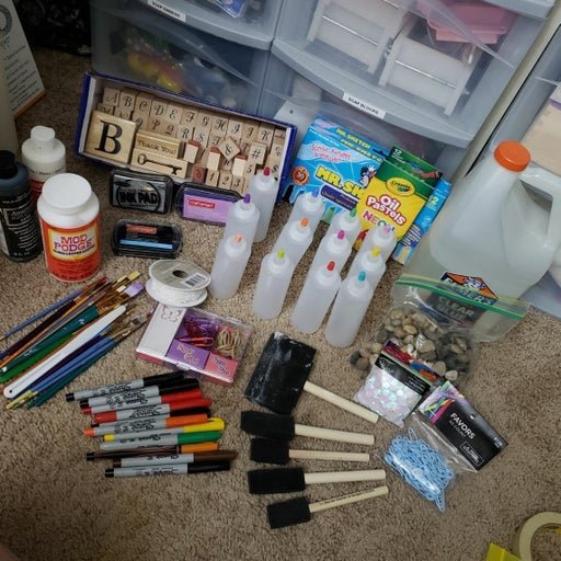 Arts and Craft Supplies lot
