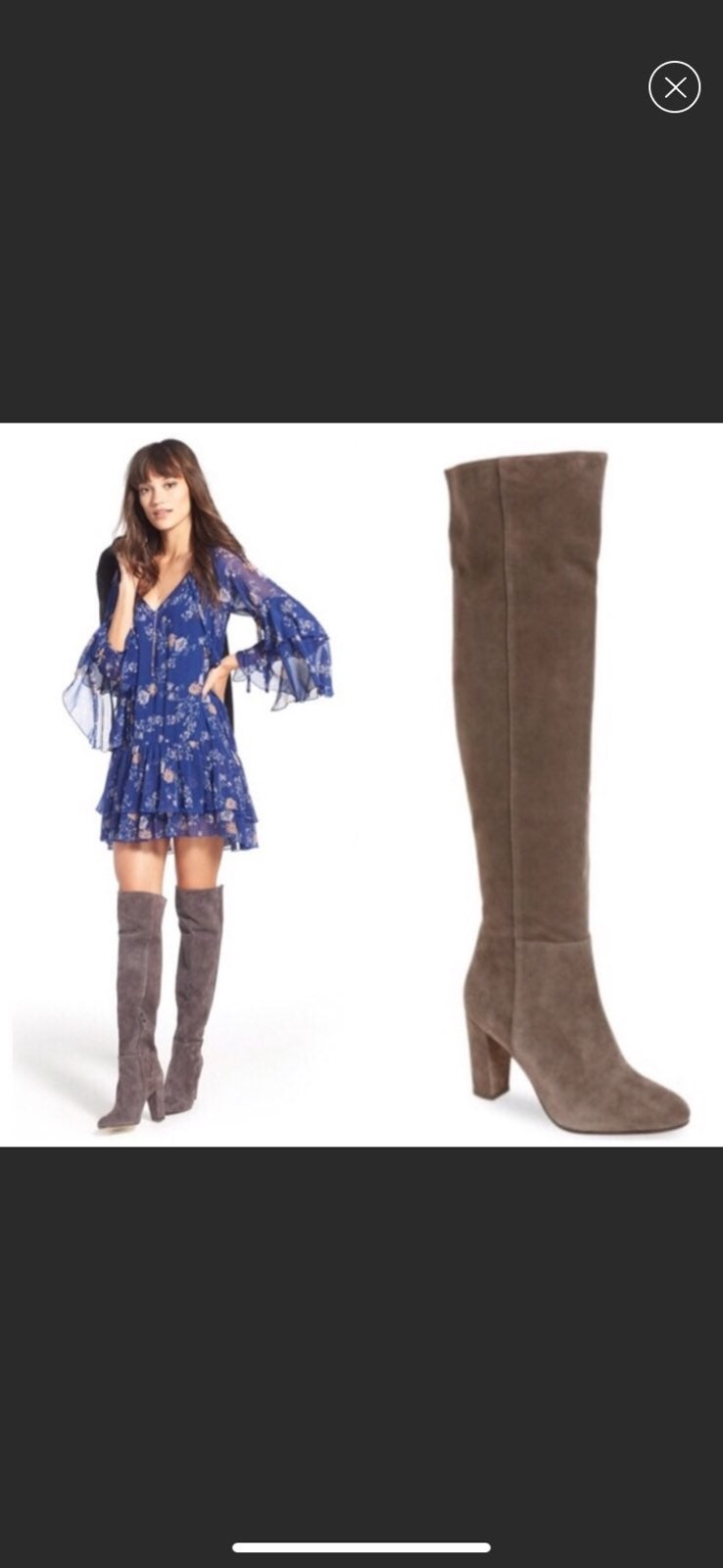 NWOB Halogen Over the Knee Suede Boots