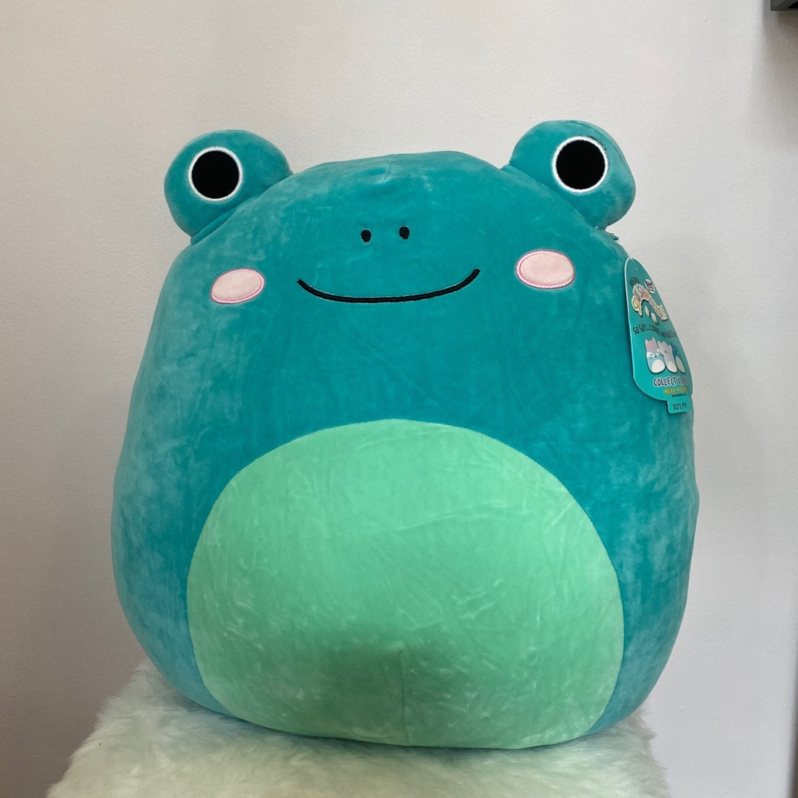 """Squishmallow 16"""" Ludwig the Frog"""