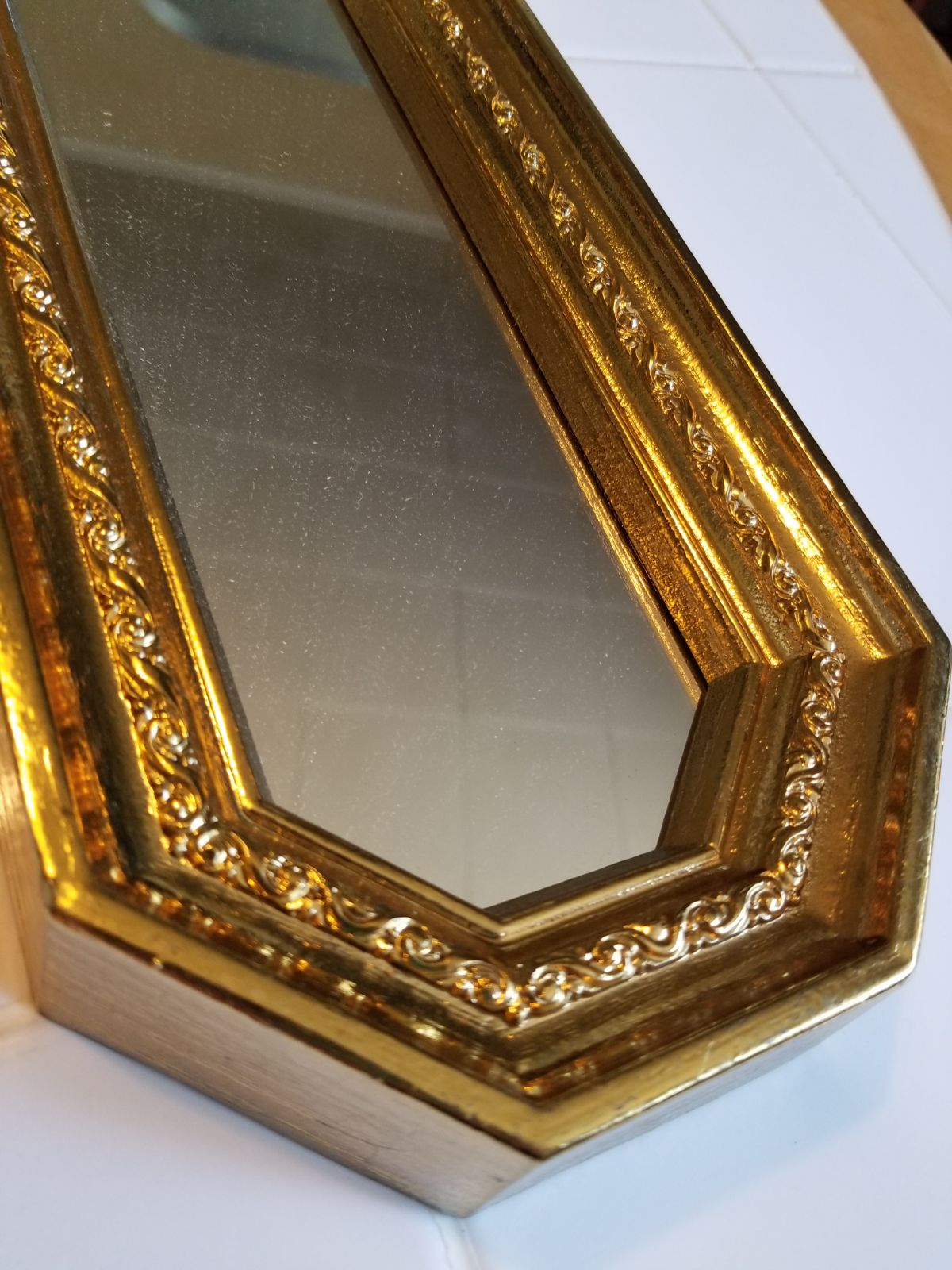 Set of 2 gilded vintage mcm mirrors