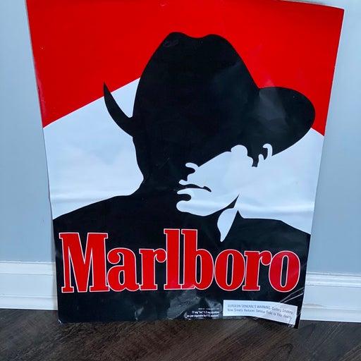 Vintage marlboro window sticker