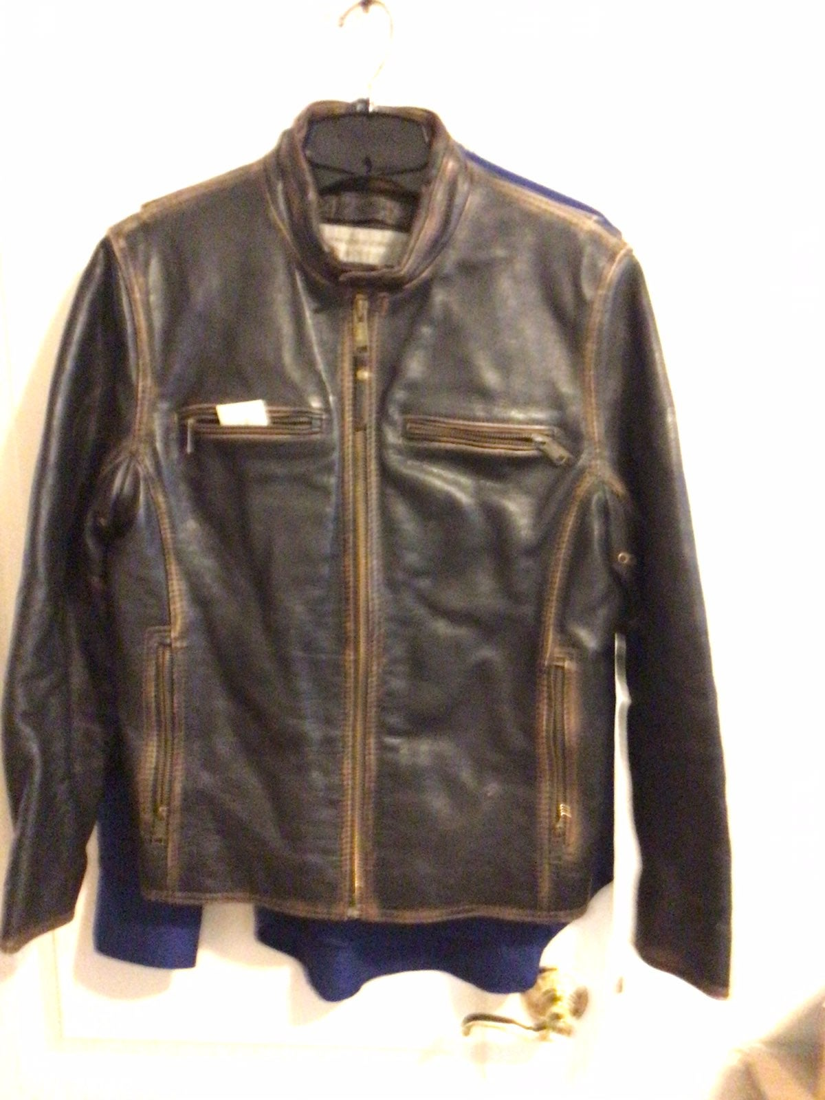Mens leather jacket Marc New York andrew