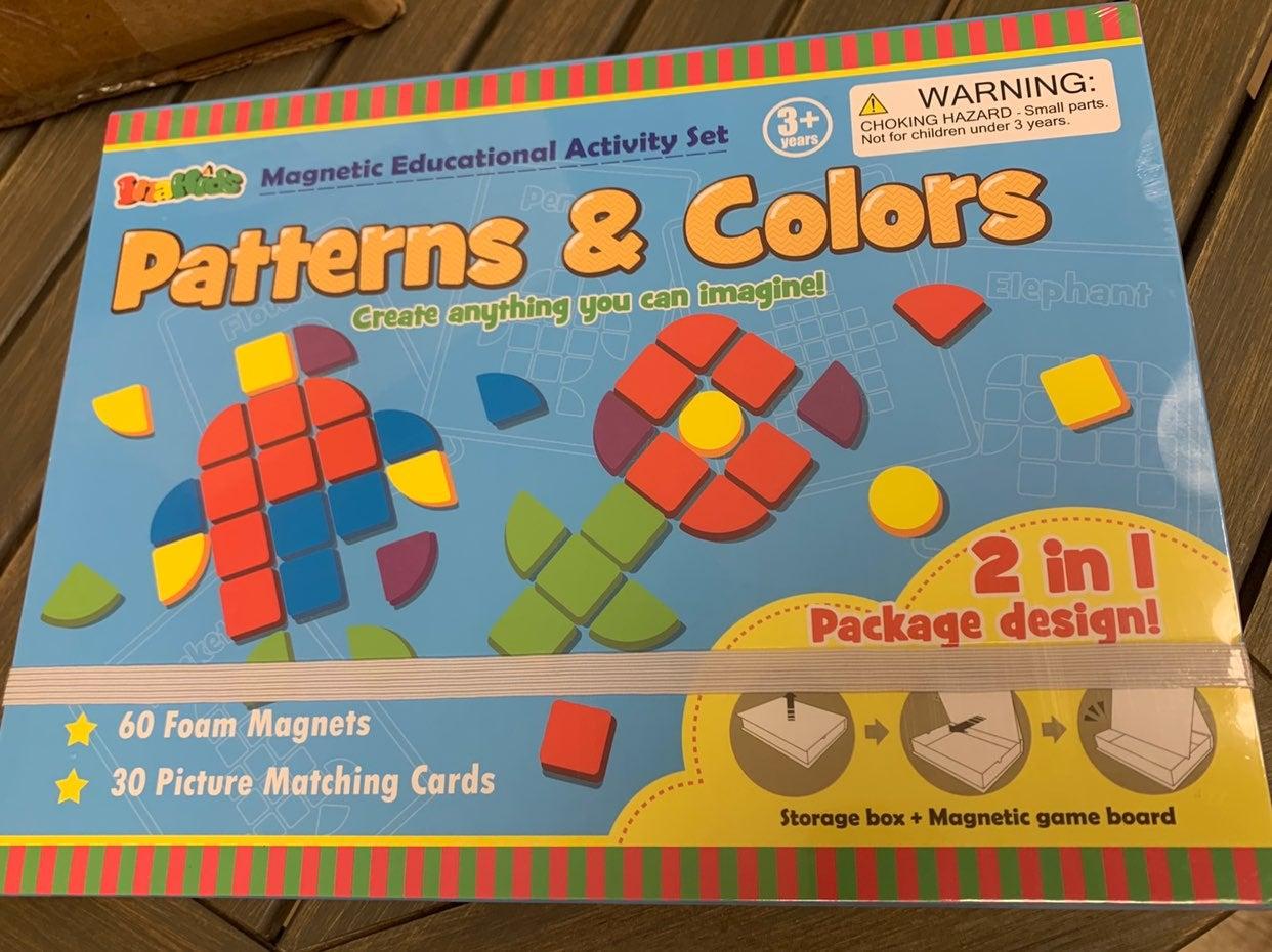 Patterns & colors magnrtic educational a