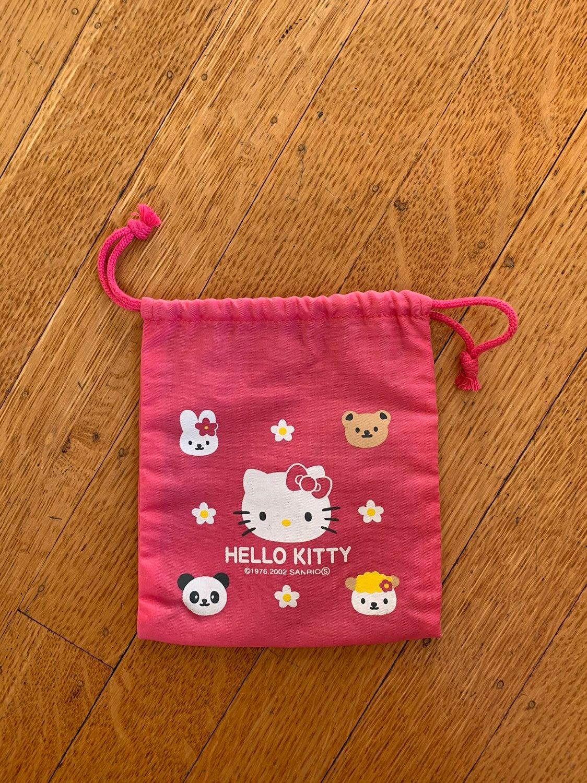 Vintage 2002 Pink Hello Kitty Drawstring