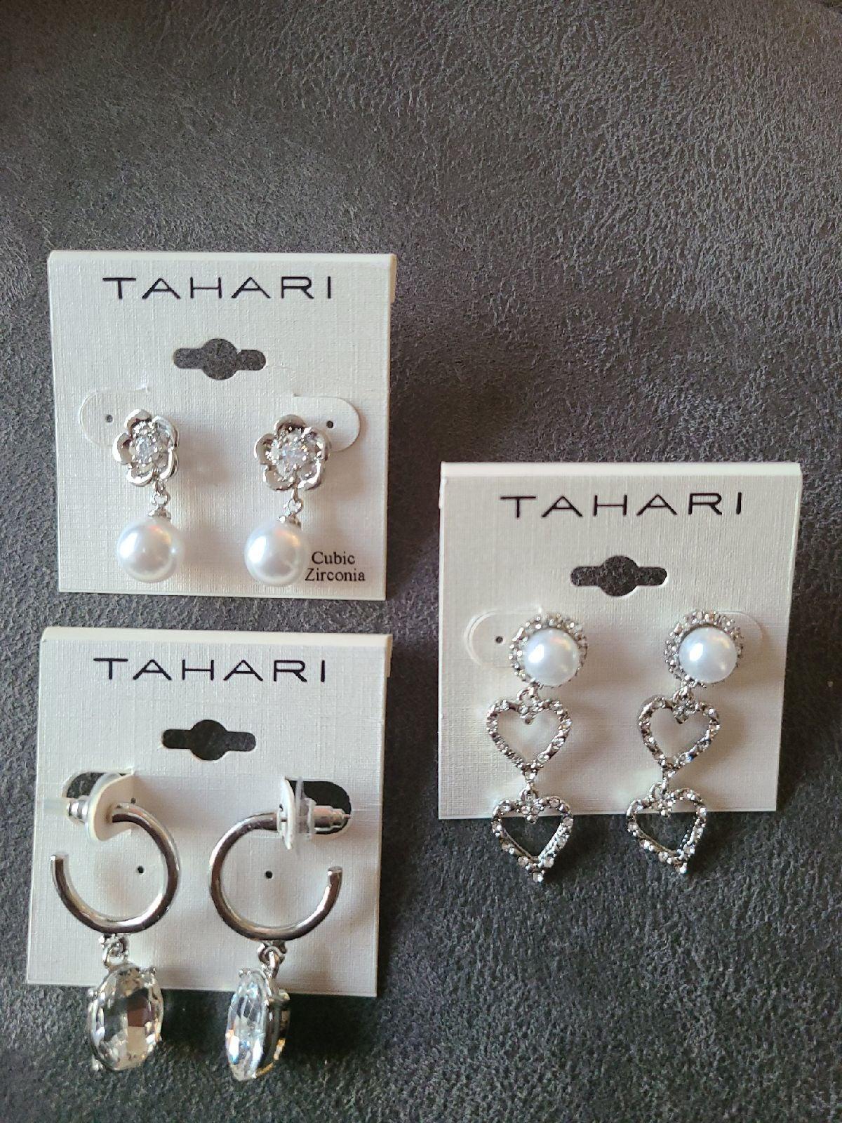 Earrings 3 pairs Tahari