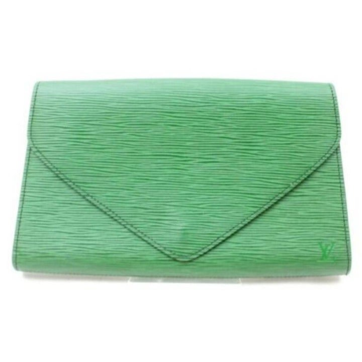 Louis Vuitton Green Epi Borneo Pochette
