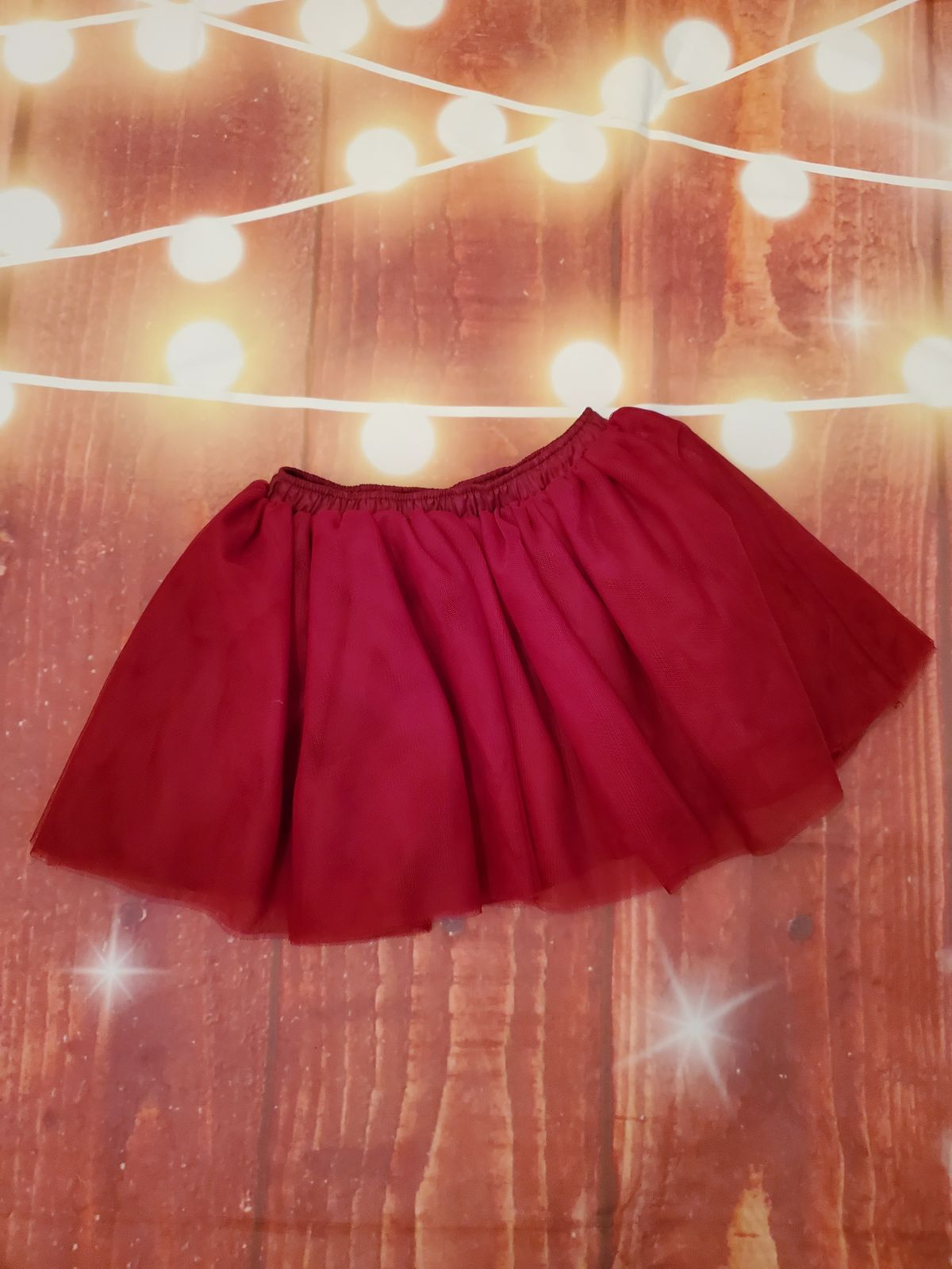 Baby Dark Red Tutu 12-18 Mos