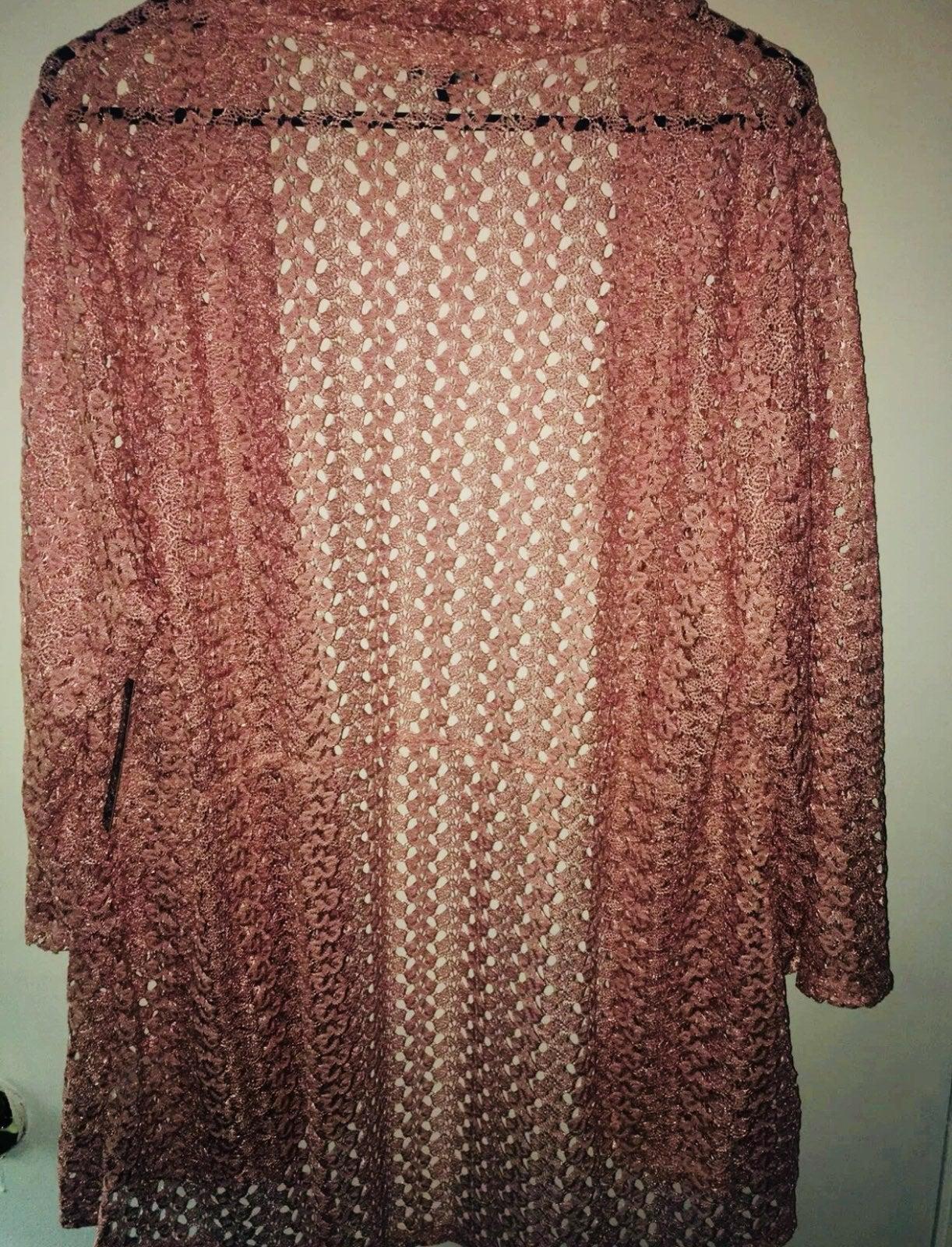Olivia Blue pink cardigan Nwt 2x