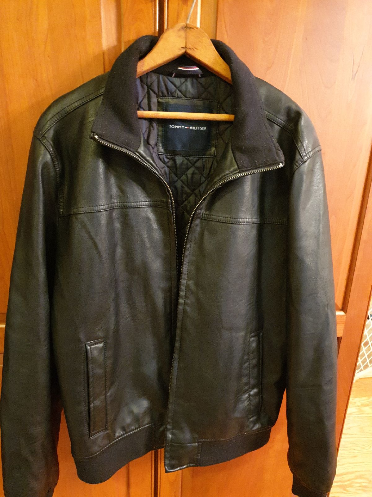 Tommy Hilfiger lined leather jacket