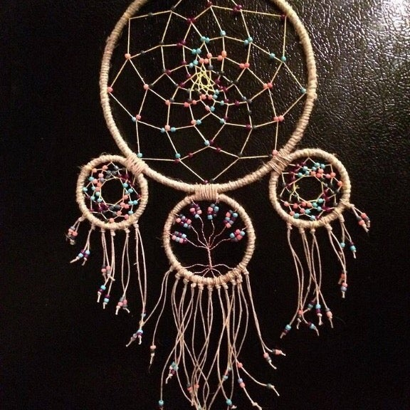 Rainbow Dreamcatcher w/ tree of life