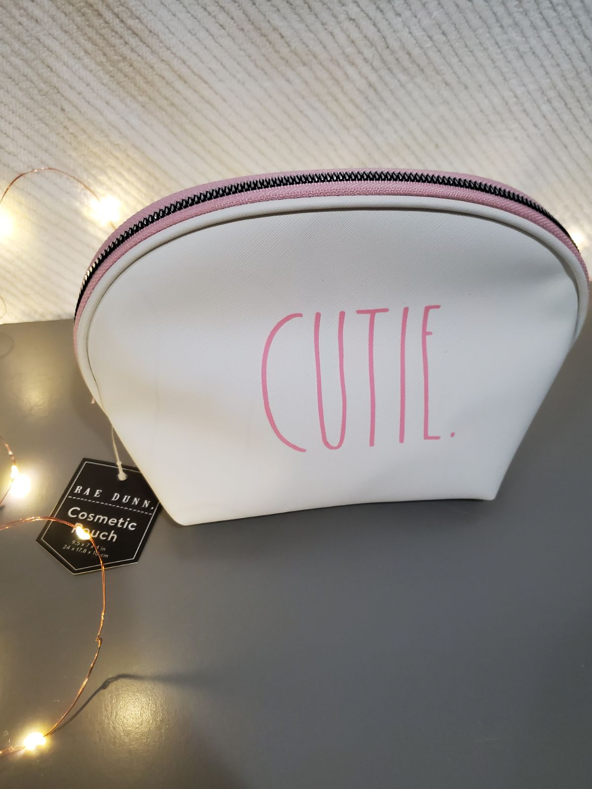 Rae Dunn Cosmetic Pouch Cutie Pink
