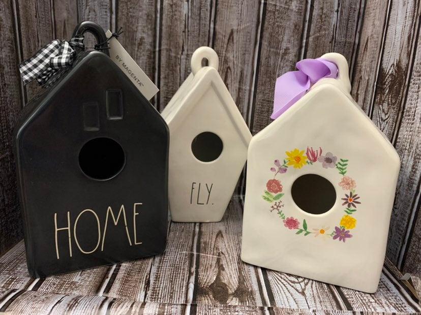 Rae Dunn Home Birdhouse Set of 3