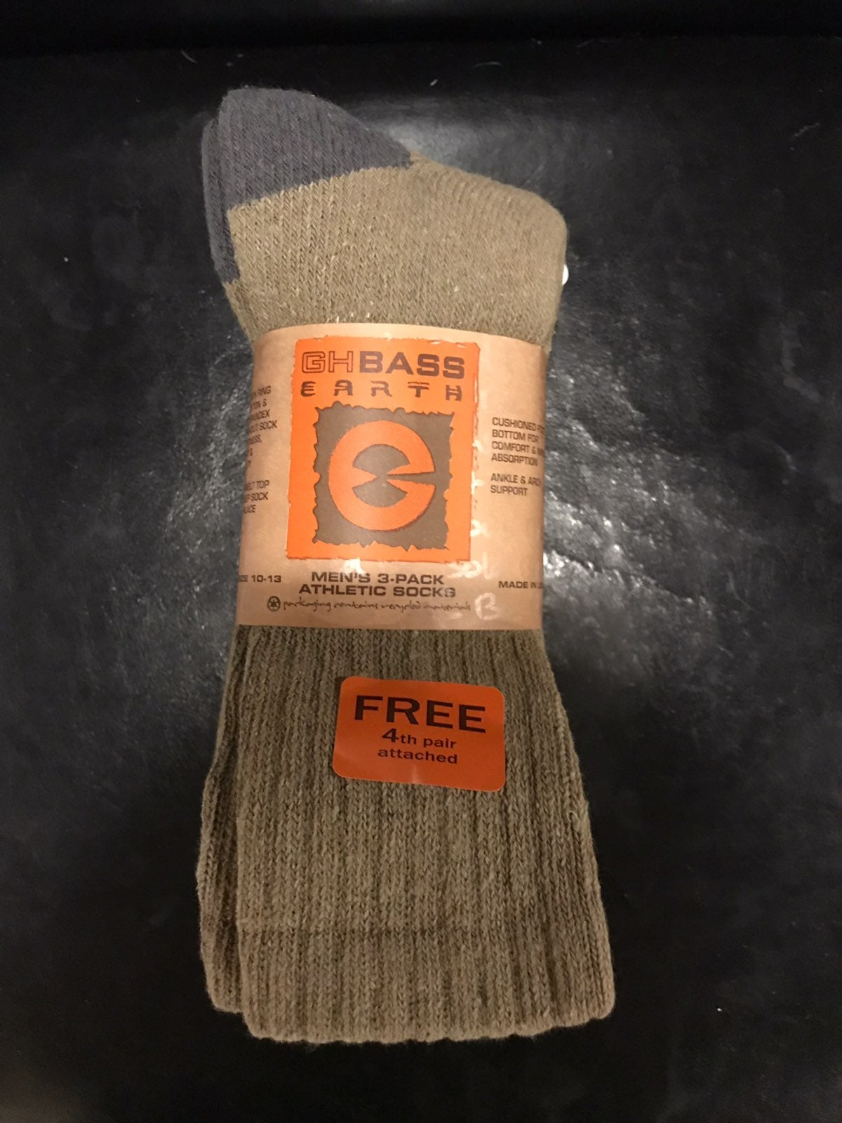 Mens GH Bass atheltic socks size 10-13