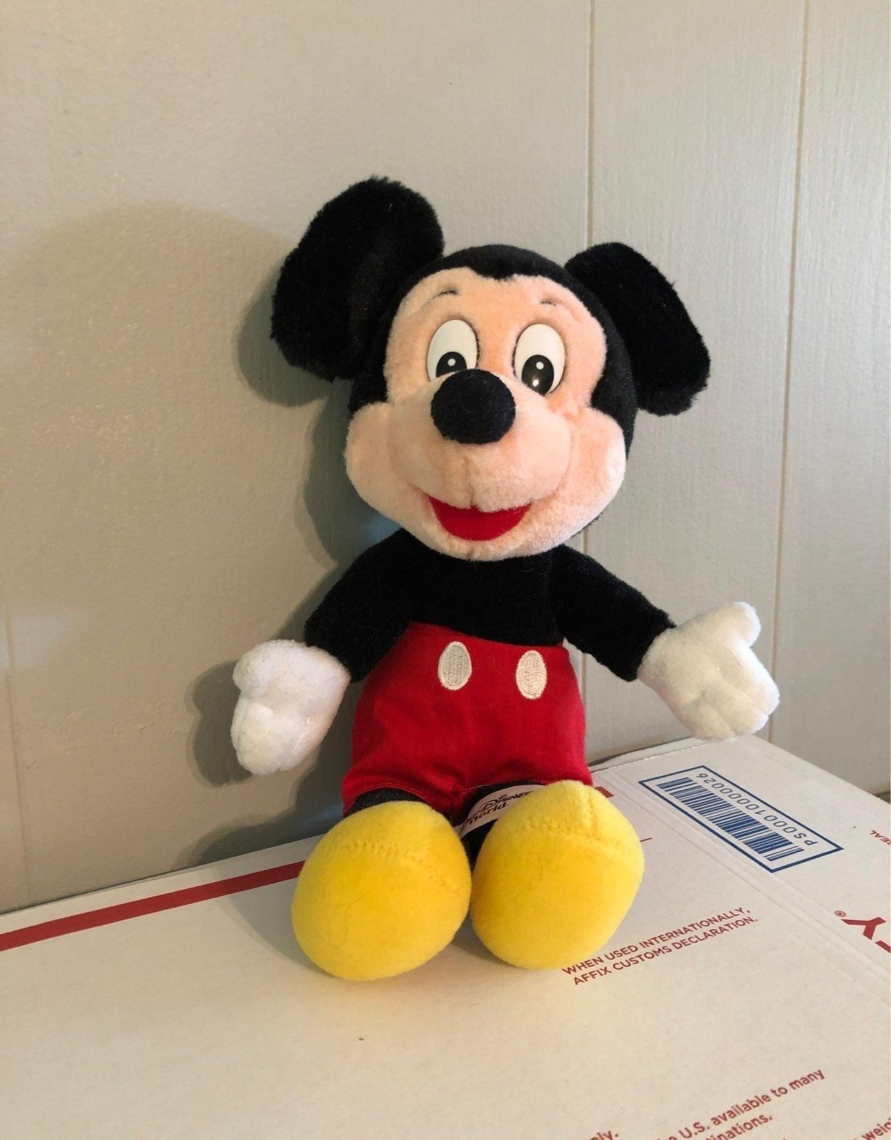 Vintage Mickey Mouse Plush Stuffed