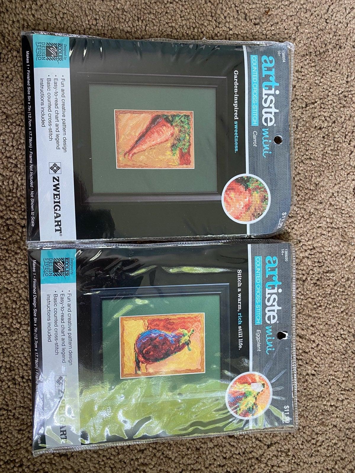 Set of 2 Cross-stitch Kits (Fruits)