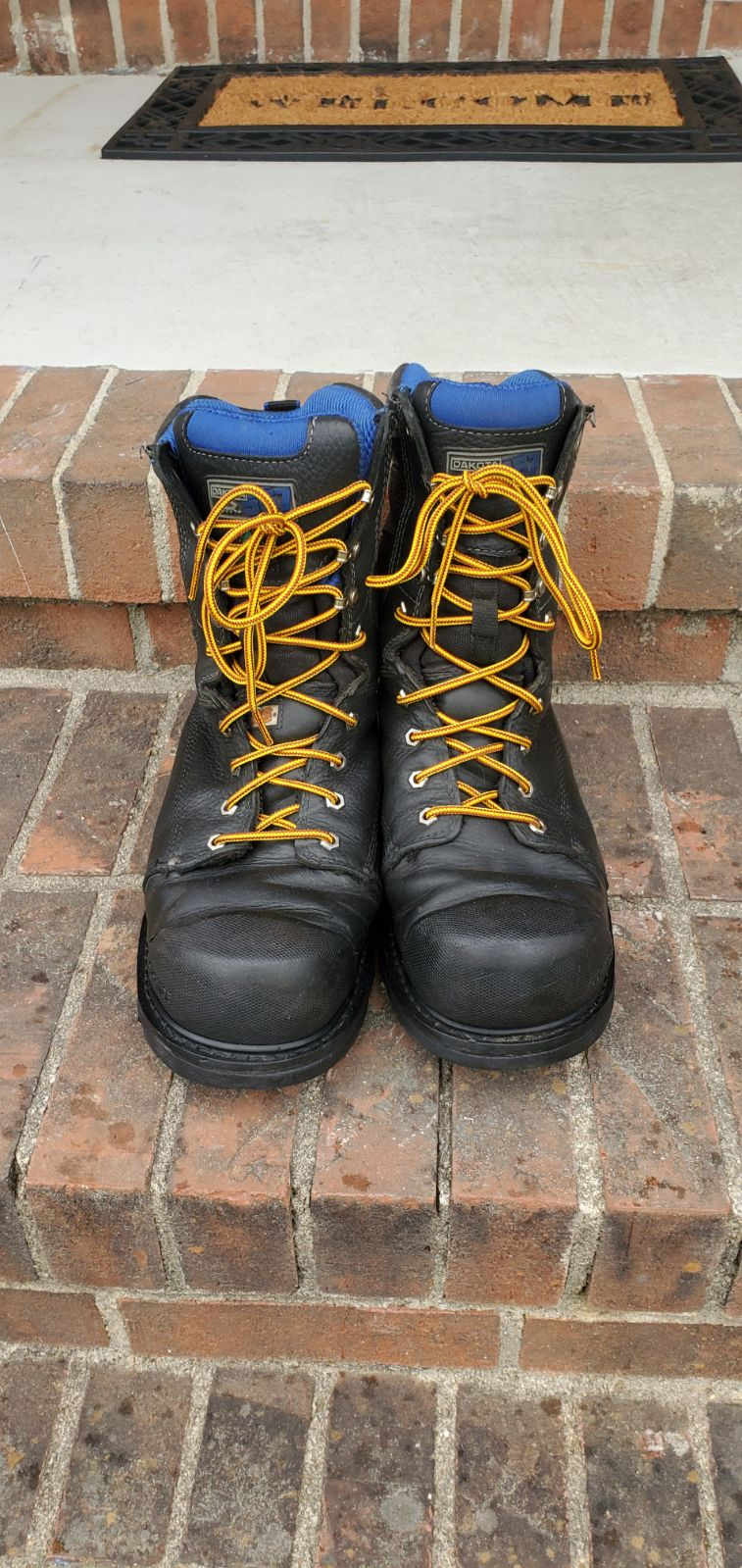 Sz 12W Dakota work boots Quad Comfort
