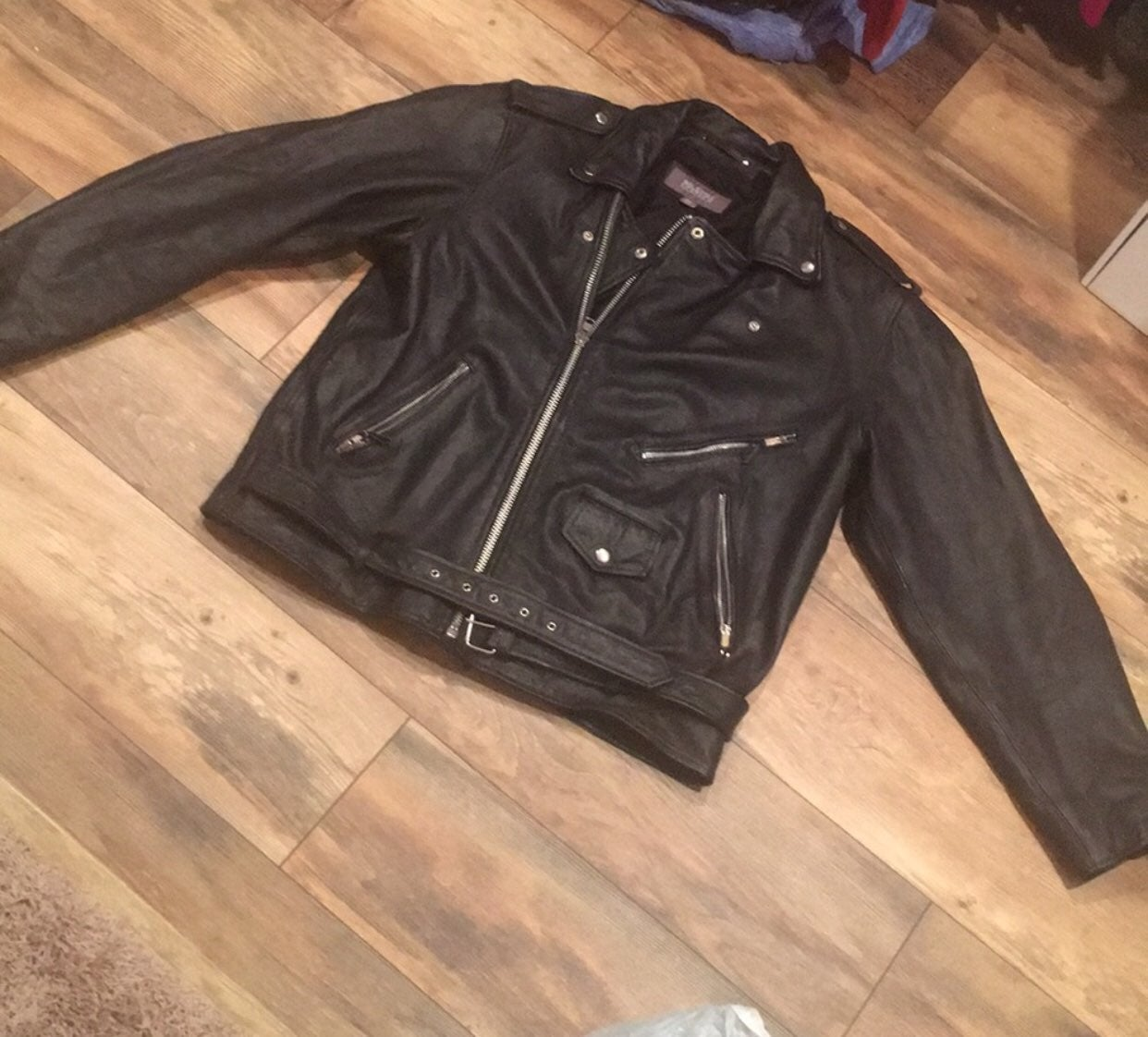 Mens wilson leather xl coat