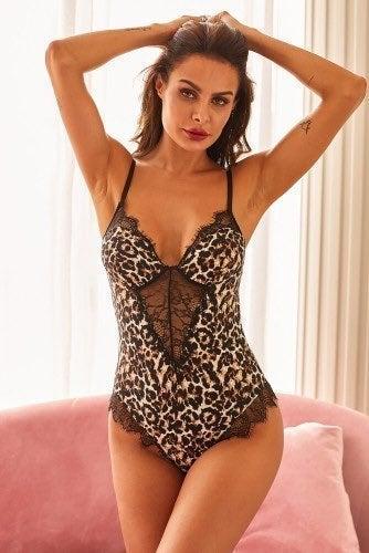 Sexy Leopard Teddy Lingerie