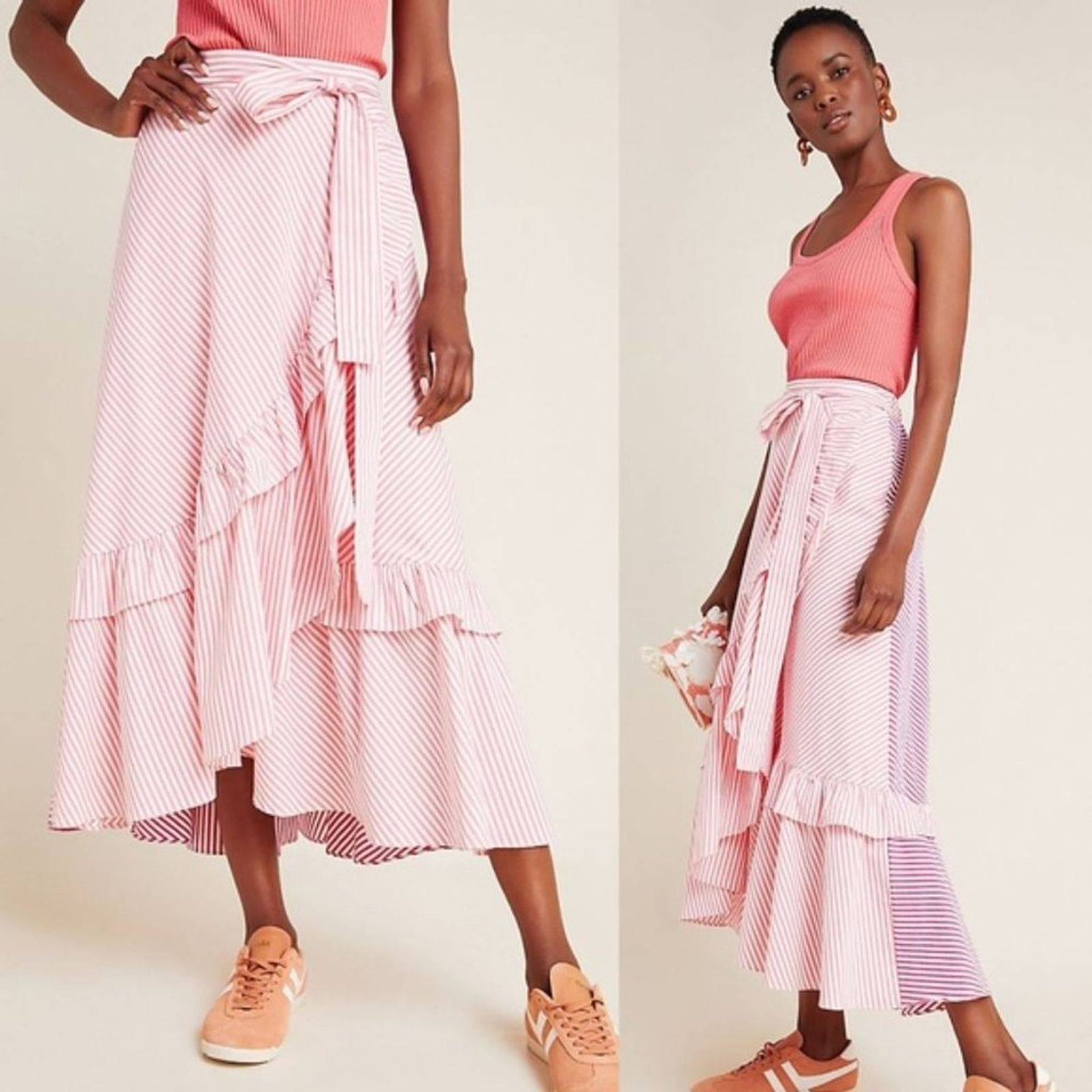 Anthropologie Maeve NWT Penny Midi Skirt