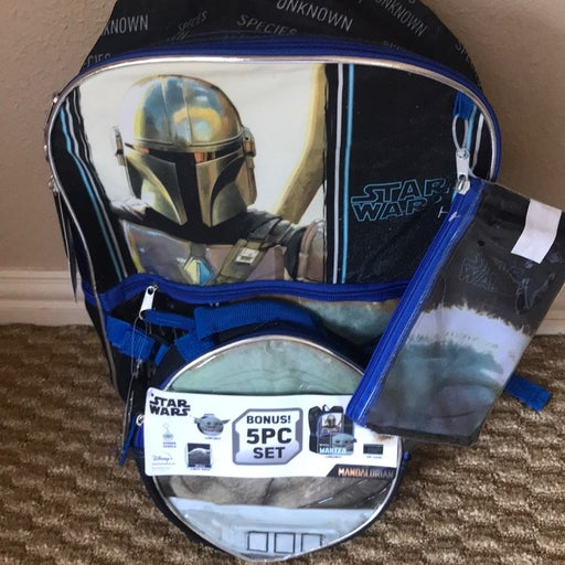 Baby Yoda Stars Wars Backpack Set