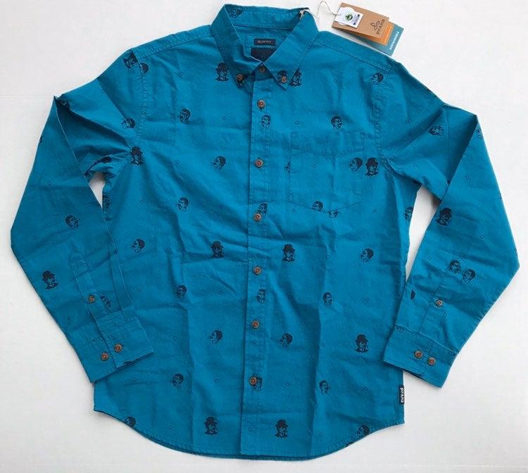 PrAna Men's Broderick Slim L-Sleeve Sz S