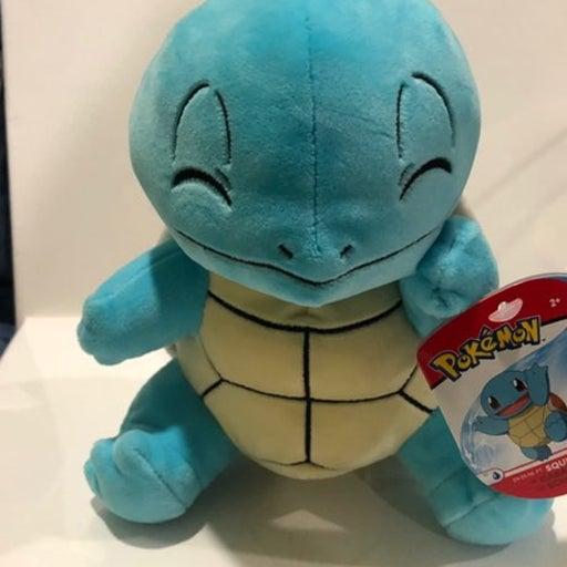 """Squirtle Pokemon 8"""" Plush NWT"""