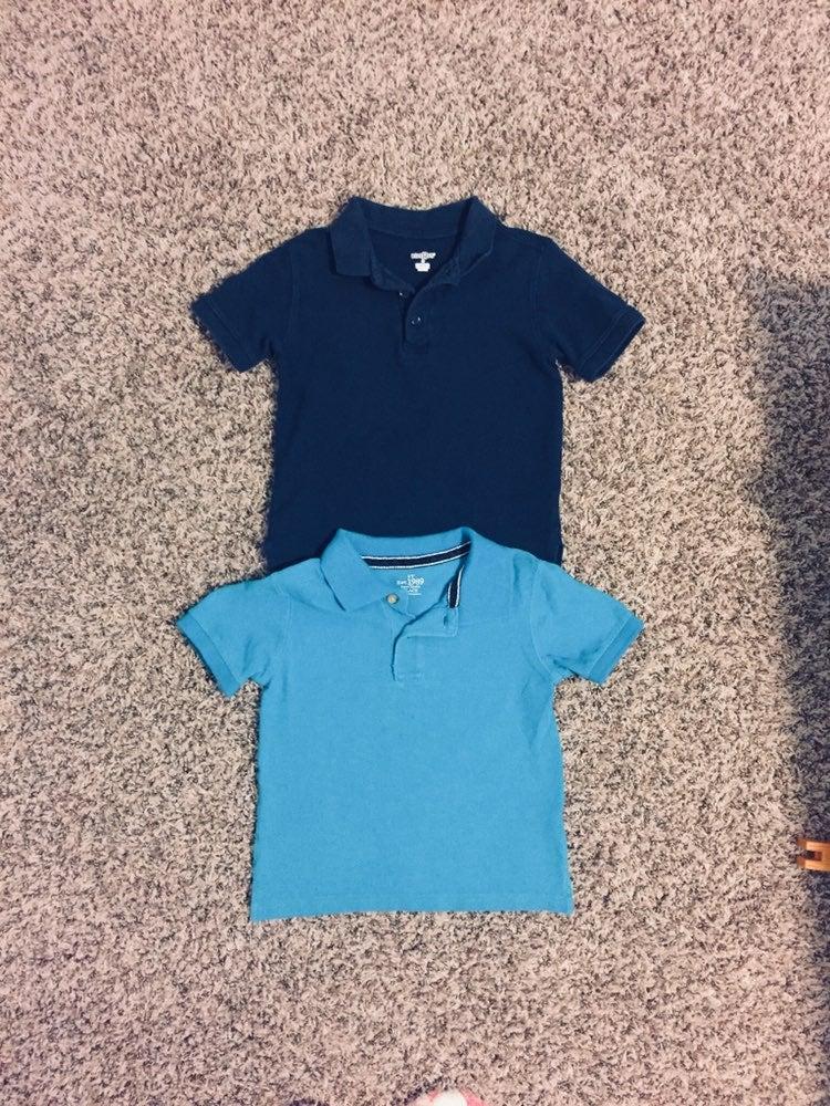 2 Toddler boy polo shirts 3T